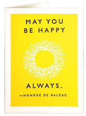 May You Be Happy Always Card
