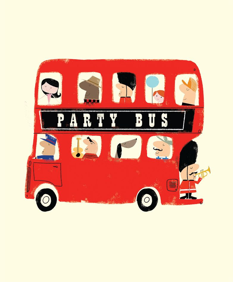 Party Bus Birthday Card