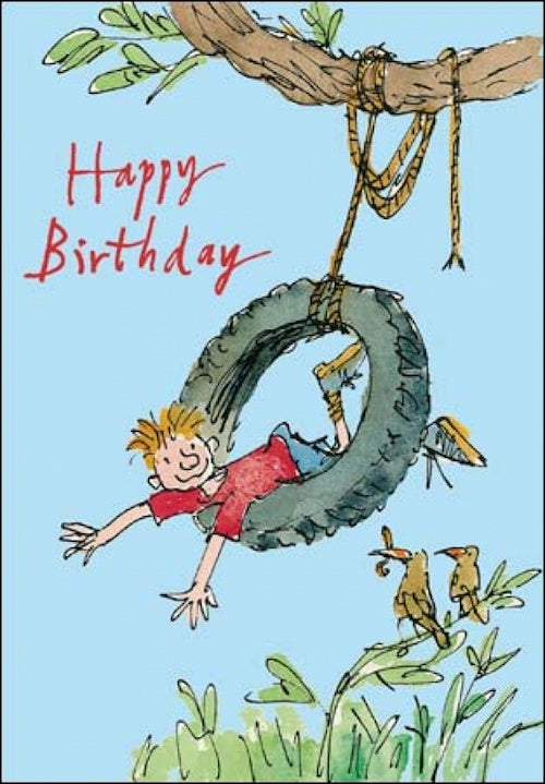 Swing-a-long Quentin Blake Birthday Card