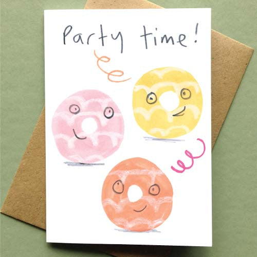 Party Time Donuts Card