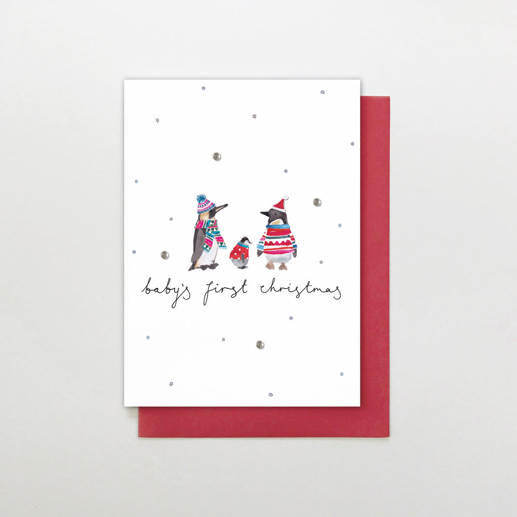 First Christmas Card.Baby S First Christmas Penguins Christmas Card