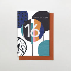 16 Happy Birthday Balloons Card