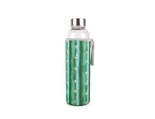 Cactus Glass Bottle With Sleeve