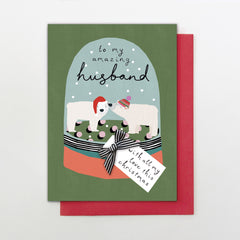 To My Amazing Husband Christmas Card