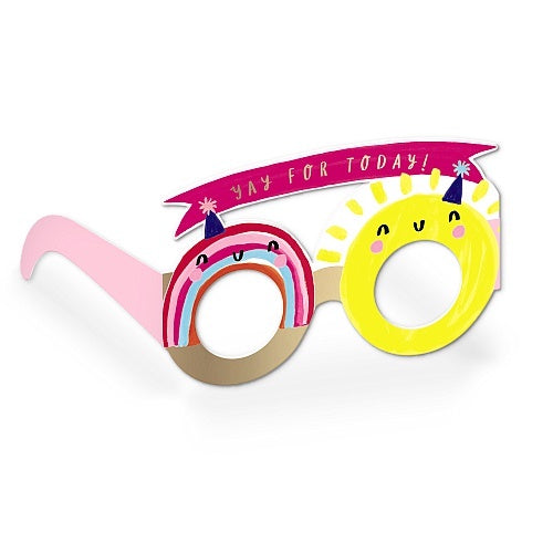 Sunshine and Rainbows Birthday Glasses