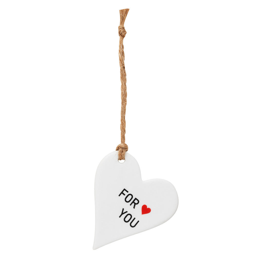 Porcelain Tag Heart For You
