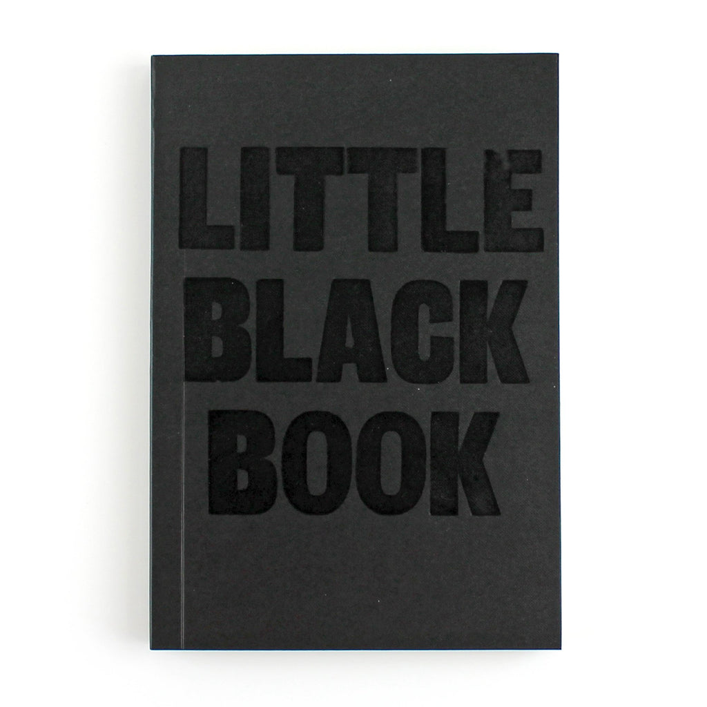 Little Black Book Letterpress Lined Notebook
