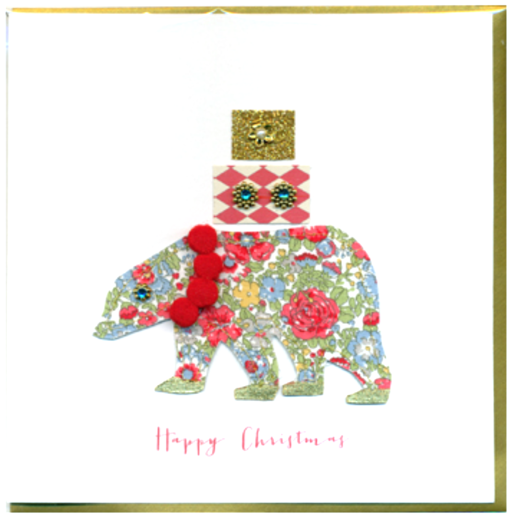 Collage Polar Bear Christmas Card