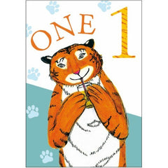 The Tiger who Came to Tea 1st Birthday Card