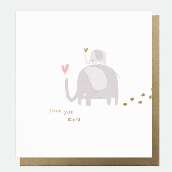 Love You Mum Elephants Mother's Day Card