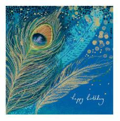 Peacock Feather Birthday Card