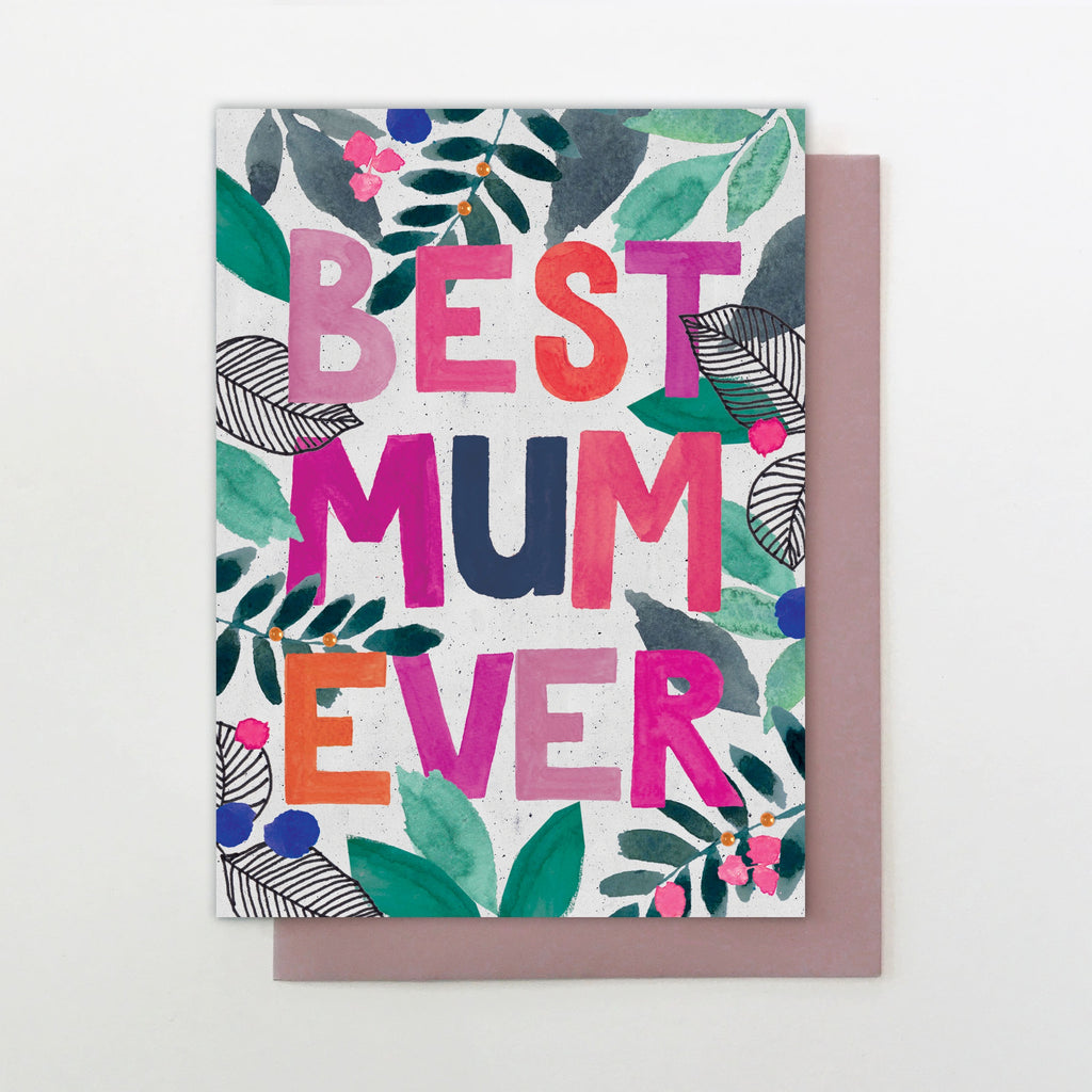 Best Mum Ever Lettering Mother's Day Card