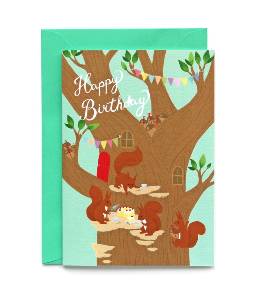 Squirrel Party Card