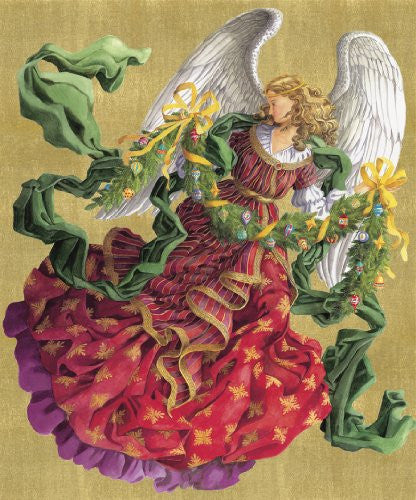 Victorian Angel Advent Card