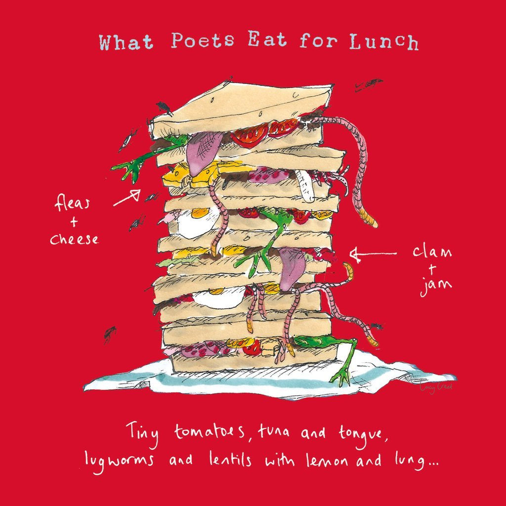 What Poets Eat For Lunch Card