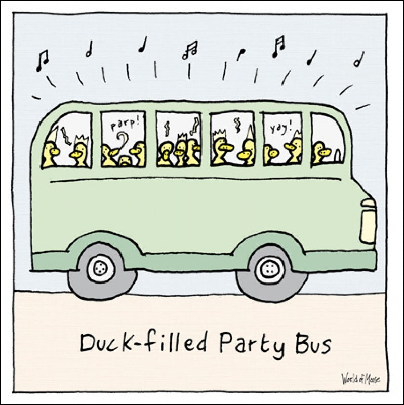 Duck-Filled Party Bus Card