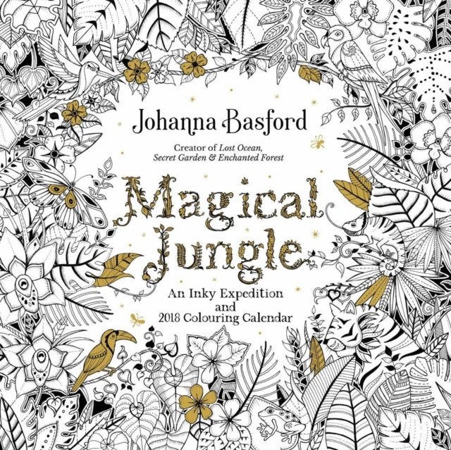 2018 Johanna Basford Magical Jungle Wall Calendar