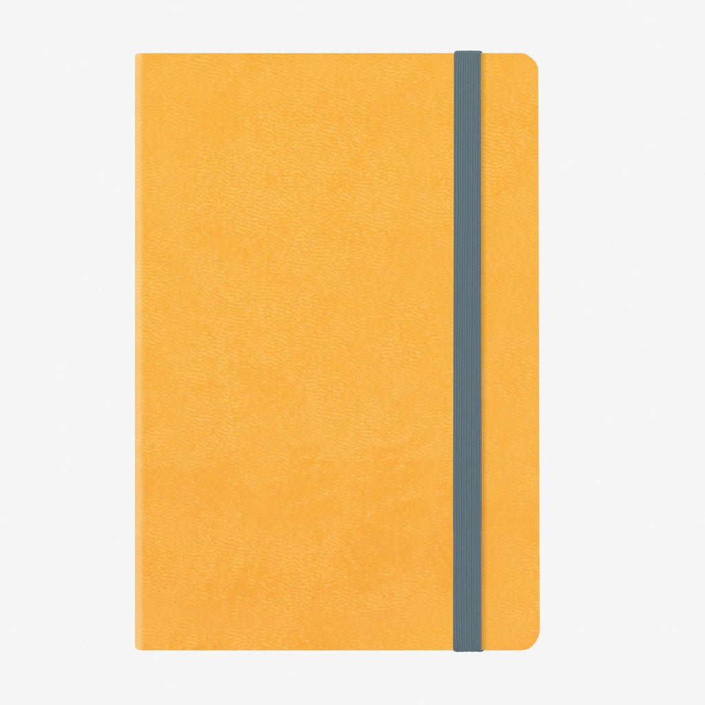 Medium Weekly Diary With Notebook 12 Month 2020 - Yellow