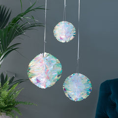 Iridescent Honeycomb Decorations 3 Pack