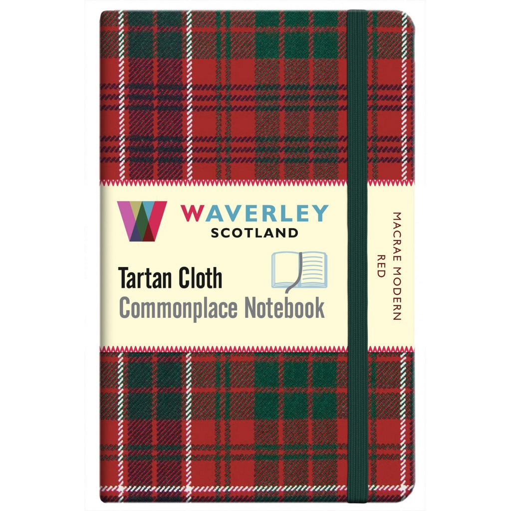 Tartan Cloth Notebook - MacRae Modern Red
