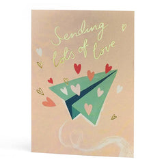 Sending Lots of Love Paper Aeroplane Card