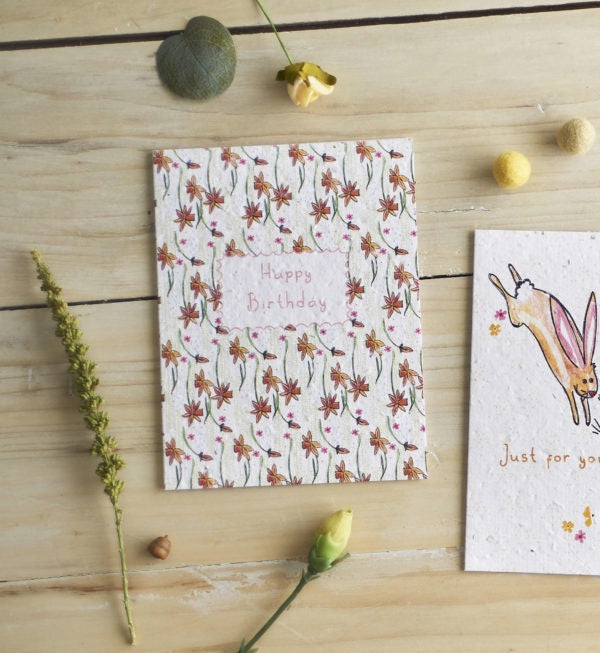 Happy Birthday Flowers Seed Card