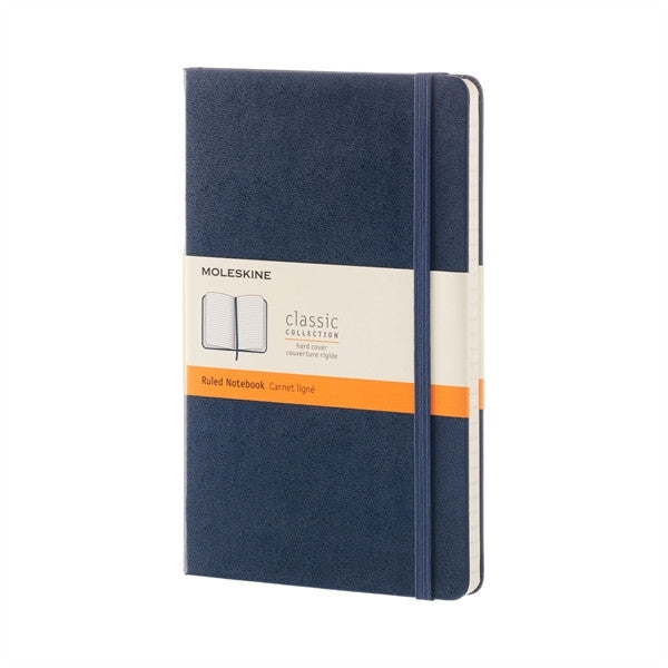 Moleskine Notebook Large Ruled Sapphire Blue Hard Cover