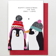 One I Love Penguins Card