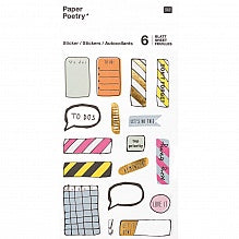 Agenda Sticker Sheet Pack of 6