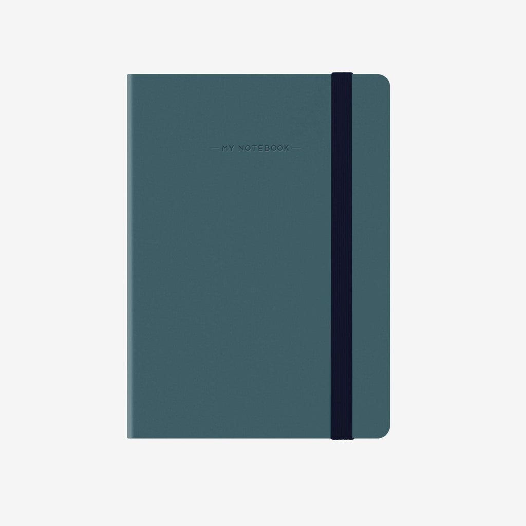 Small Squared Petrol Blue Notebook