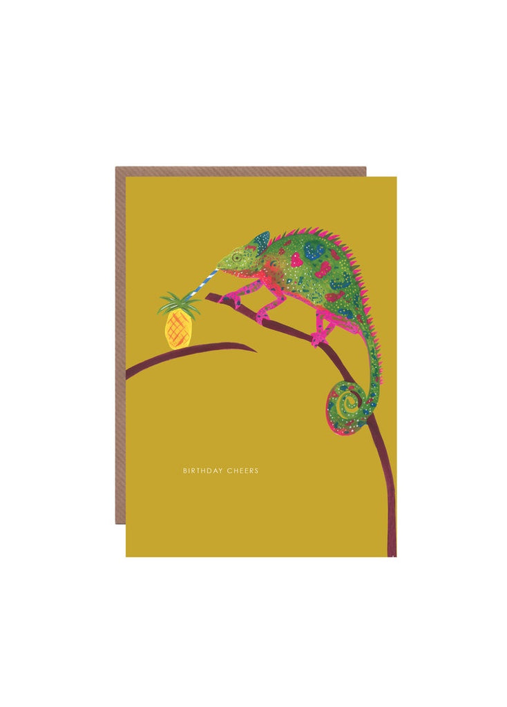 Birthday Cheers Chameleon Card