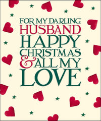 Emma Bridgewater My Husband Christmas Card