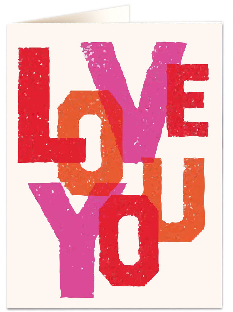 Love You Letterpress Card