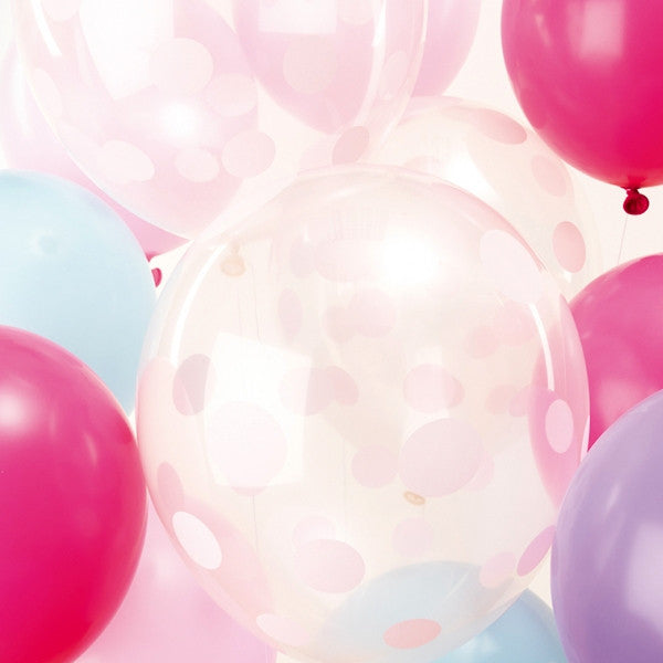 Pastel Mix Pack of 12 Balloons
