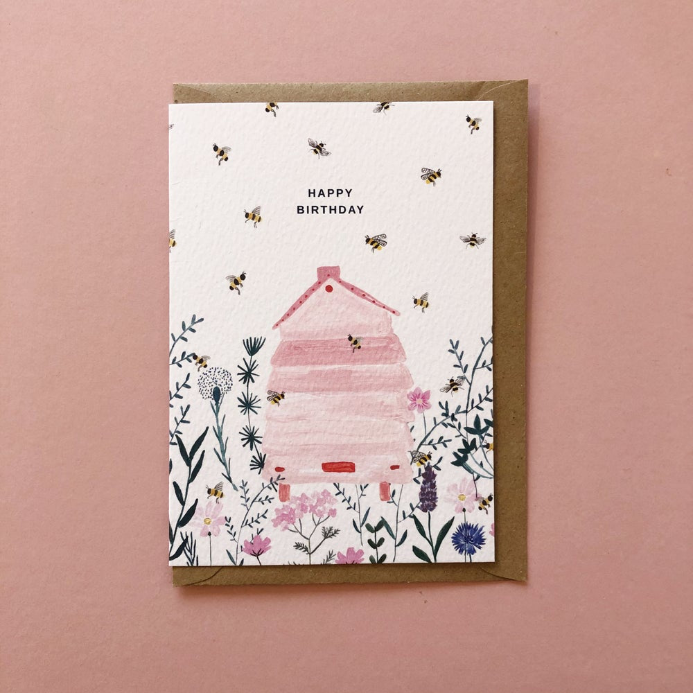 Beehive Birthday Card
