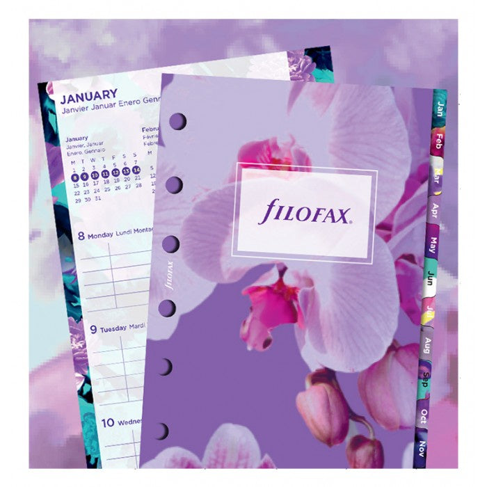 Filofax 2021 Pocket Week to View Floral Refill