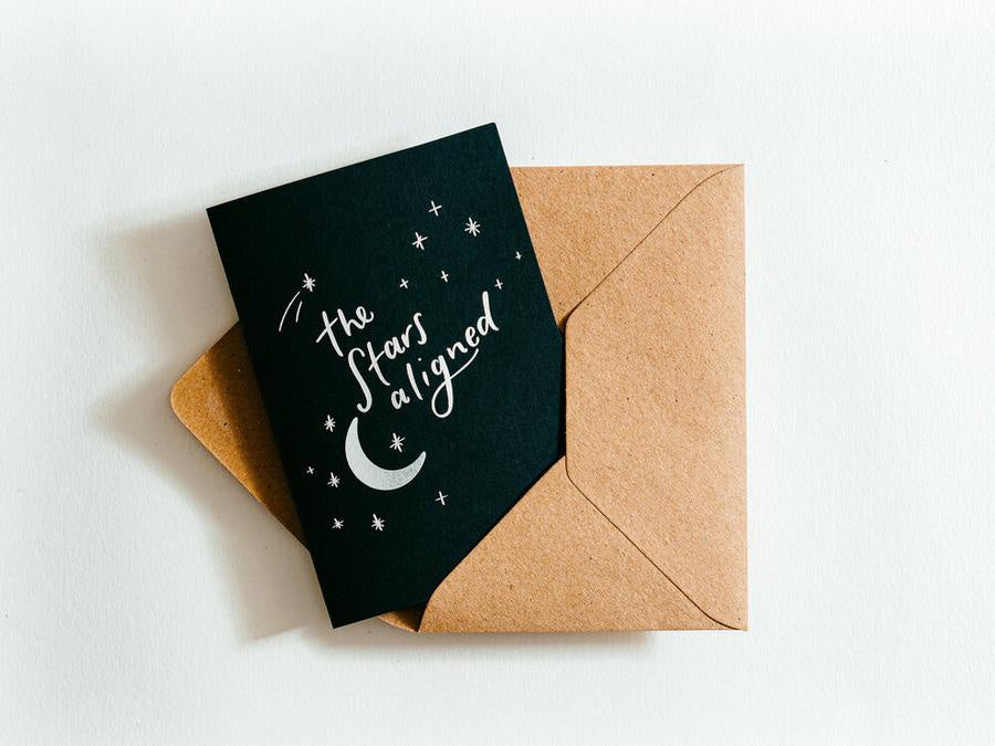 The Stars Aligned Hot Foil Congratulations Card