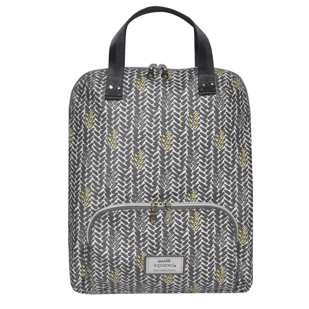 Grey Oil Cloth Backpack