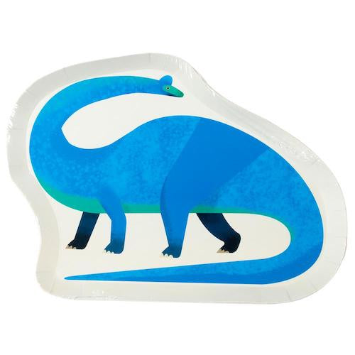 Dinosaur Shaped Paper Plates Pack of 12