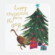 Happy Christmas From The Dog Christmas Card