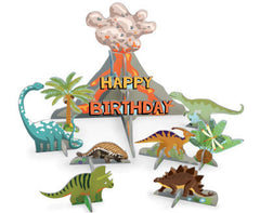 Dinosaur Pop and Slot Birthday Scene and Card