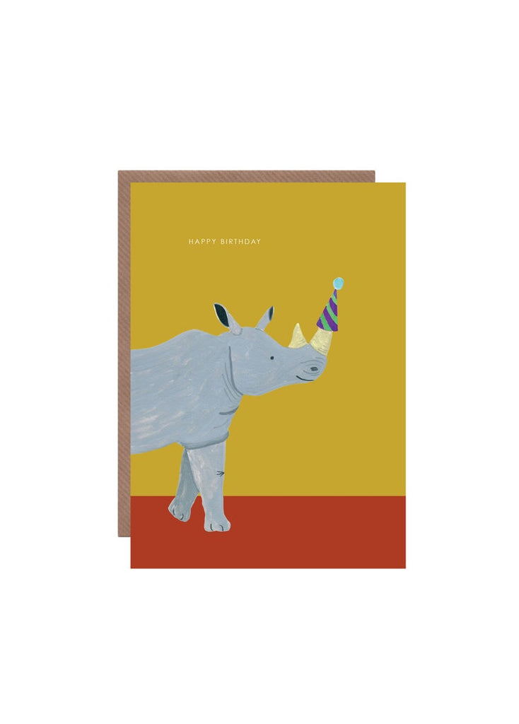 Happy Birthday Rhino Card