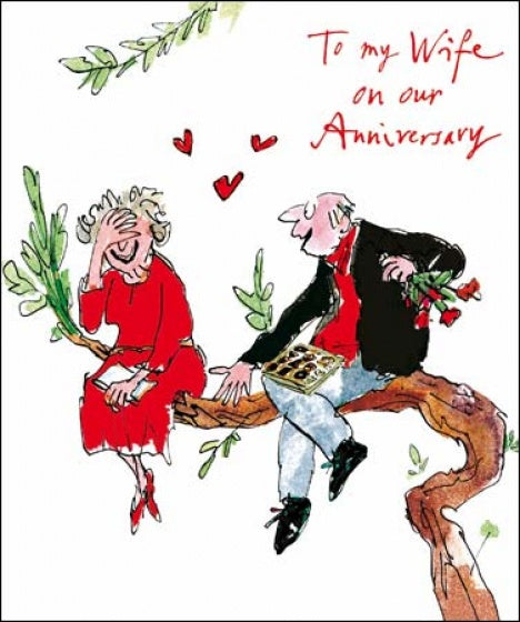 Quentin Blake To My Wife Anniversary Card