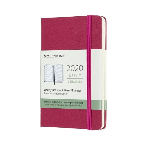 Moleskine 2020 Weekly Pocket Diary Snappy Pink Hard Cover