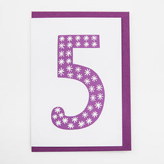 Number Five Card
