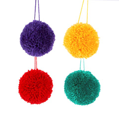 Christmas Fun Pom Poms Set of 4