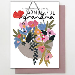 Grandma Hanging Basket Card