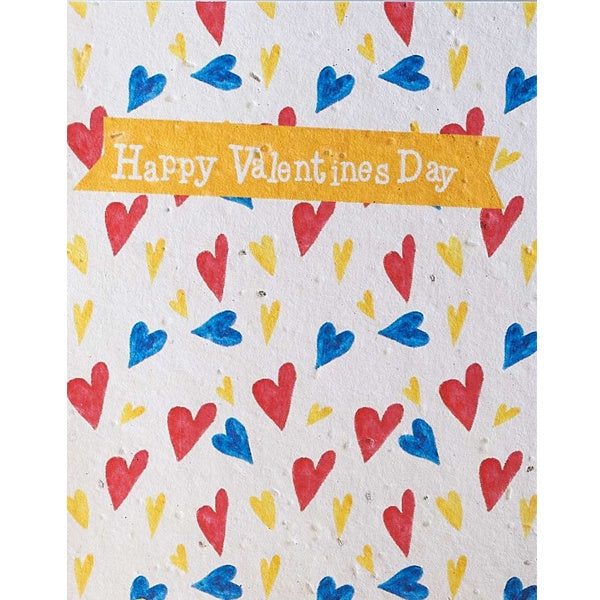 Happy Valentines Day Heart Background Seed Card