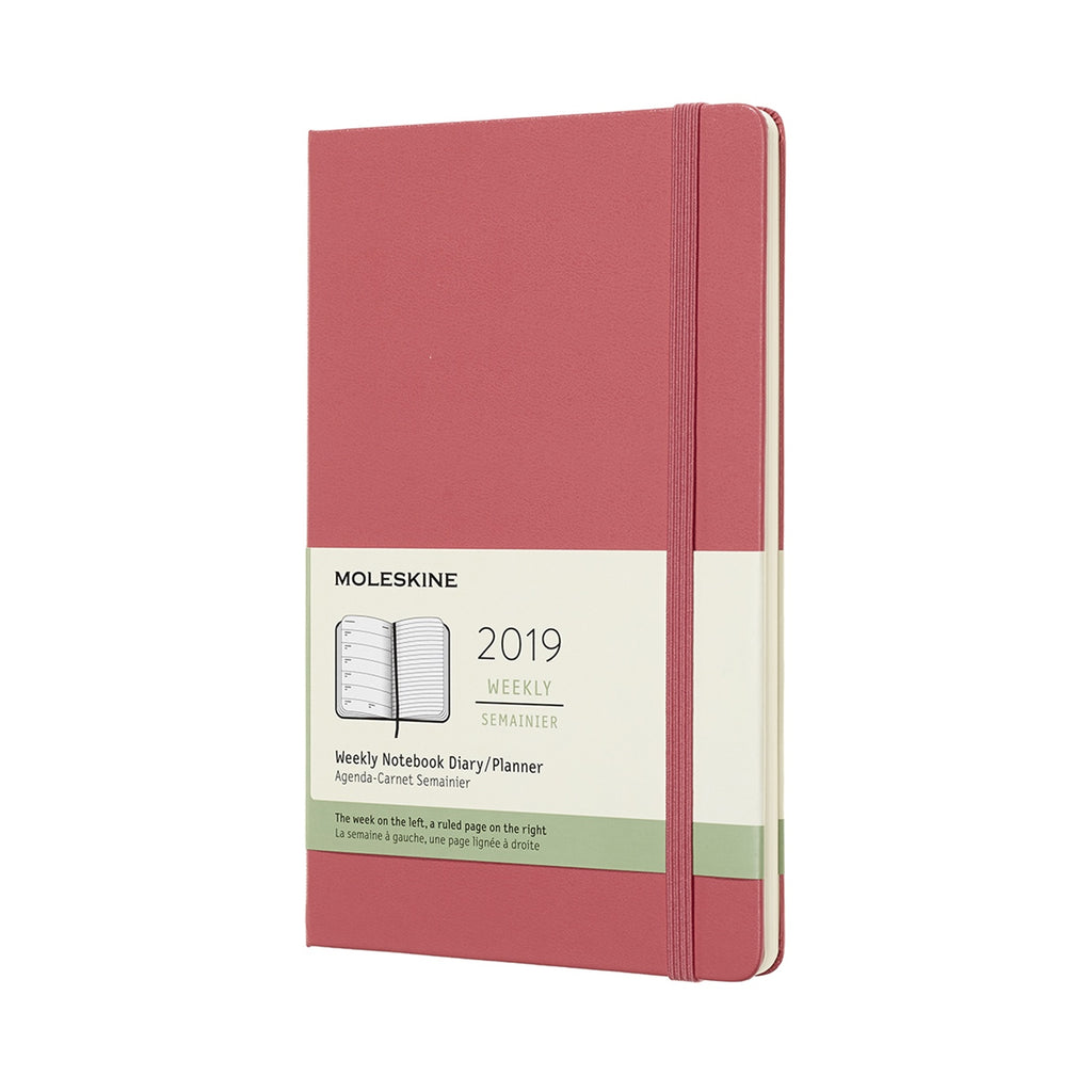 2019 Moleskine Large Weekly Planner Hardcover Daisy Pink