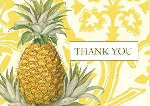 Pack of 8 Royal Pineapple Thank You Notecards